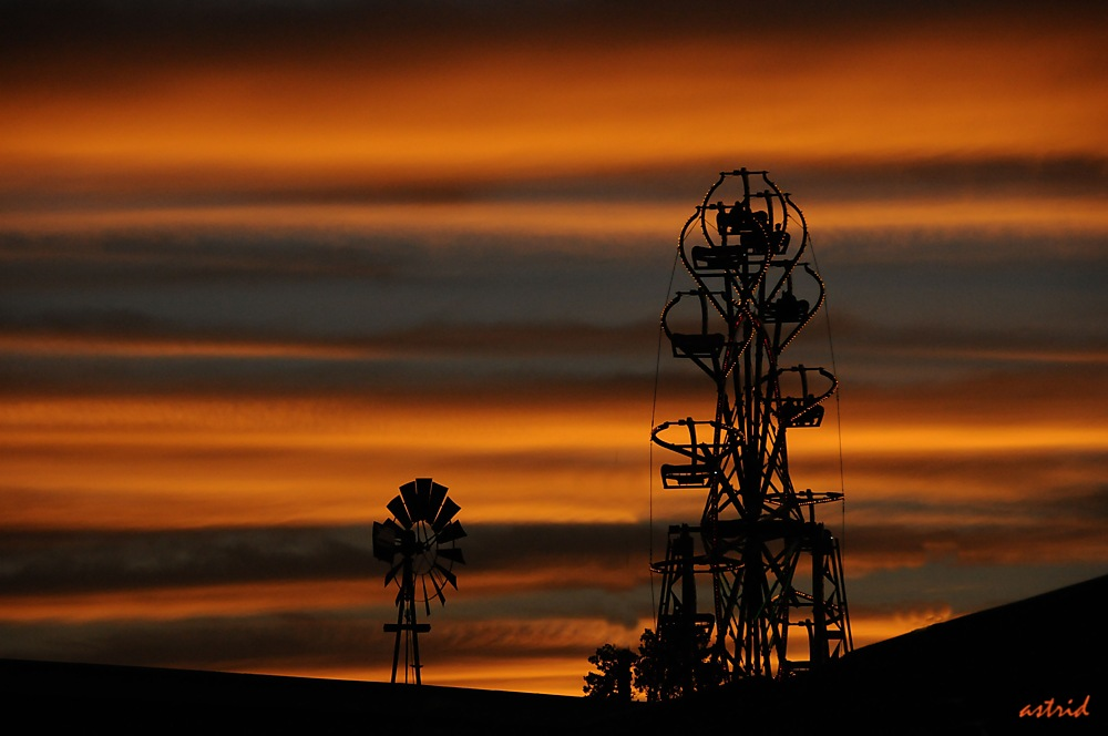 photoblog image ....Sunset at the fair......